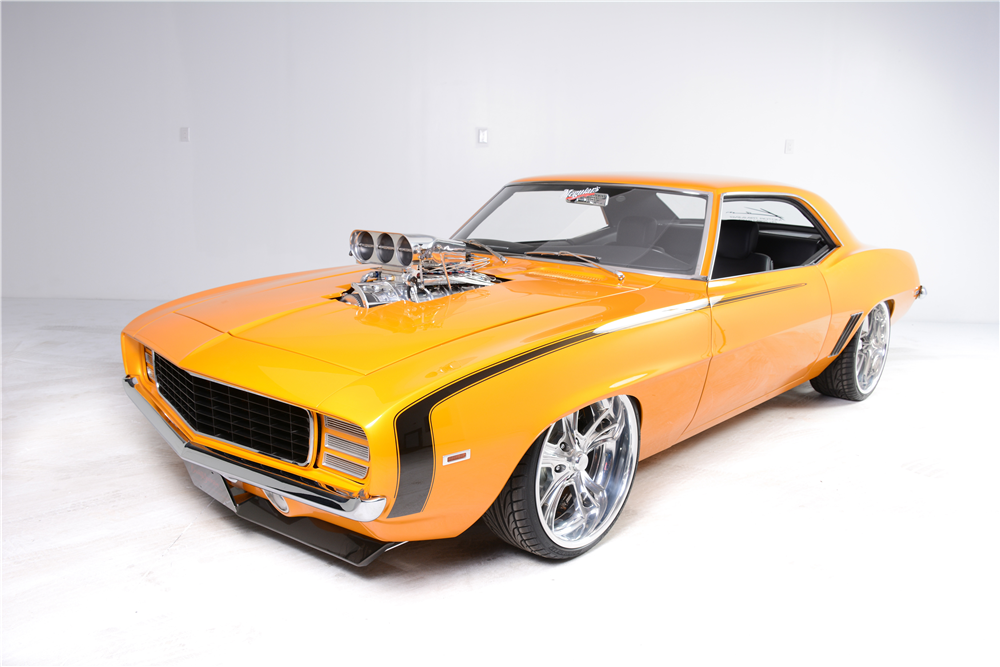 1969 CHEVROLET CAMARO RS/SS CUSTOM COUPE - Front 3/4 - 190265