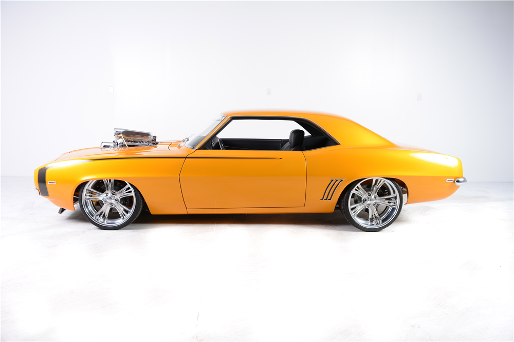 1969 CHEVROLET CAMARO RS/SS CUSTOM COUPE - Side Profile - 190265