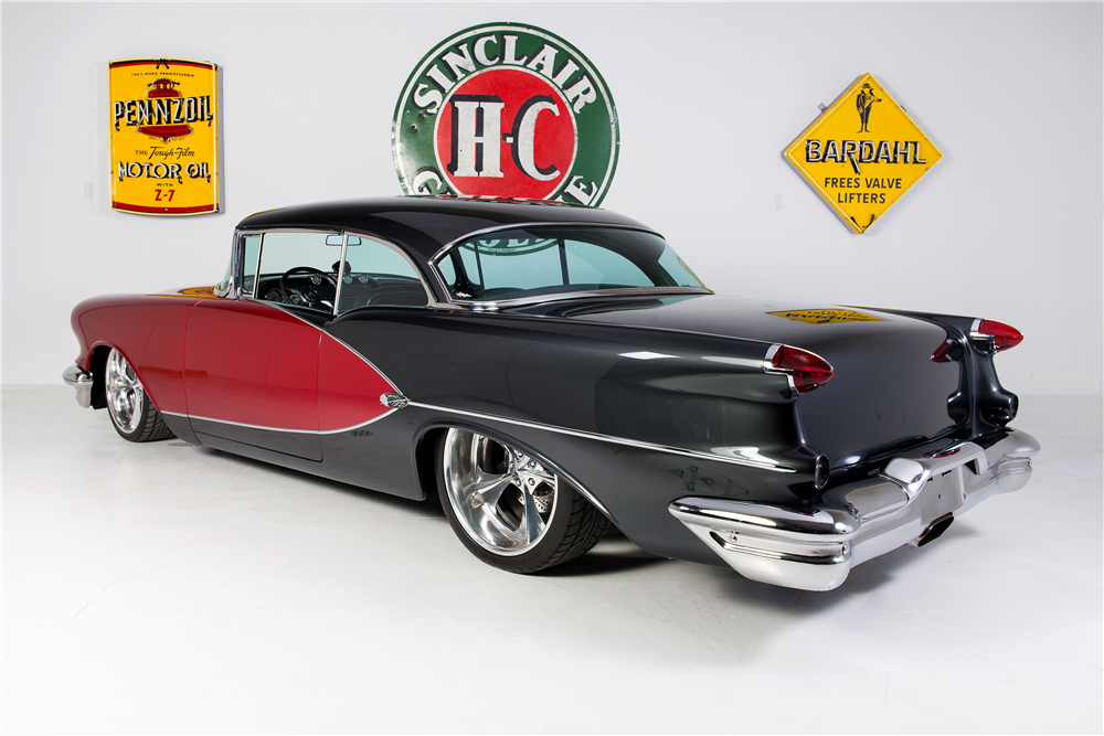 1956 OLDSMOBILE HOLIDAY 98 CUSTOM HARDTOP - Rear 3/4 - 190268