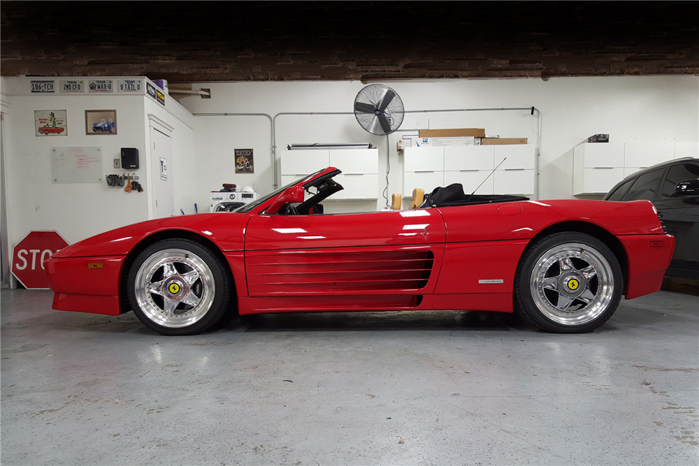 1990 FERRARI 348 TS SPIDER - Side Profile - 190294