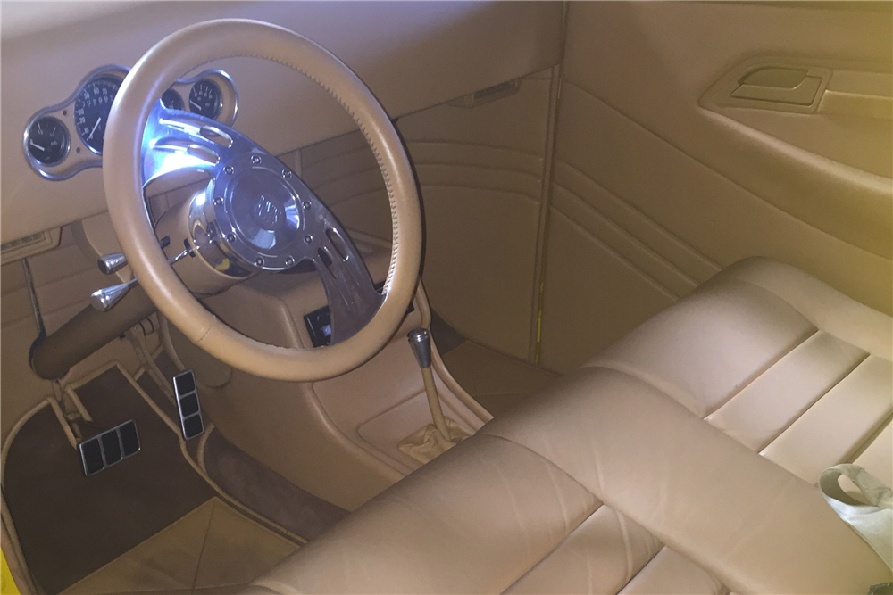 1937 FORD 3-WINDOW CUSTOM COUPE - Interior - 190313