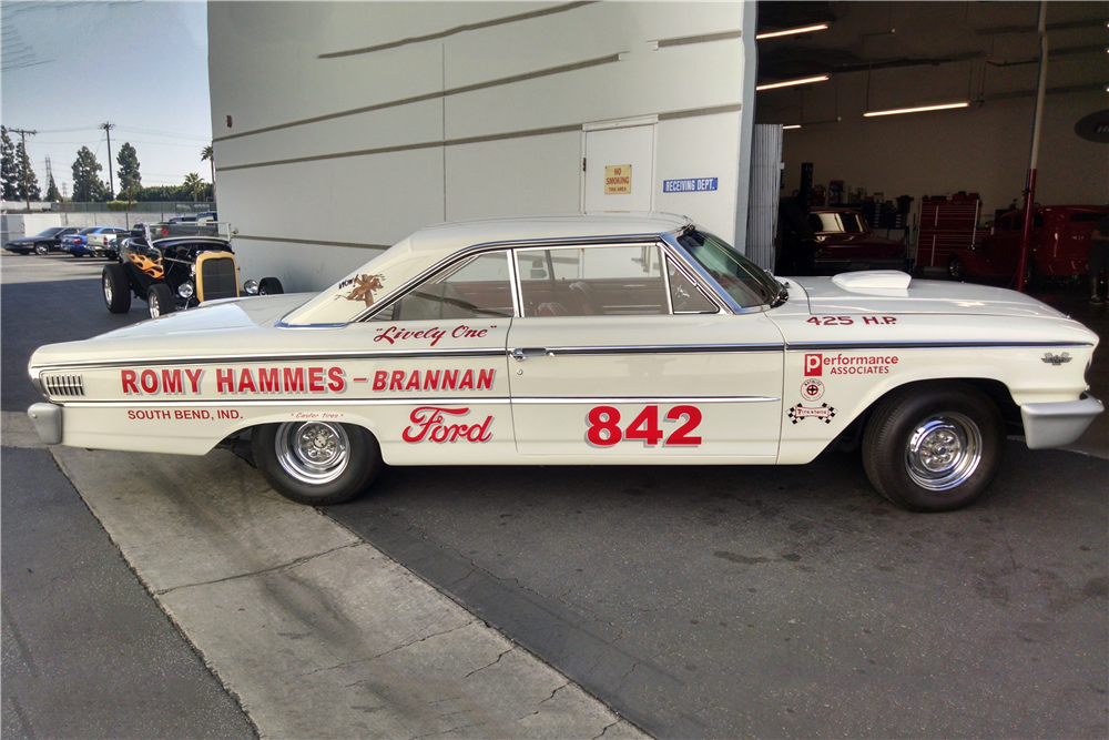 1963 FORD GALAXIE 500 DRAG CAR - Side Profile - 190316