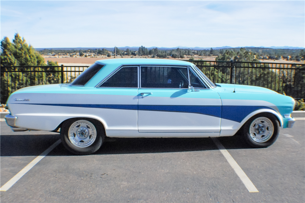1963 CHEVROLET NOVA CUSTOM COUPE - Side Profile - 190323