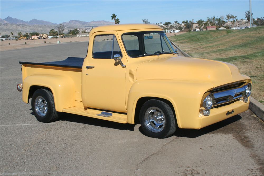 1954 FORD F-100 CUSTOM PICKUP - Front 3/4 - 190376