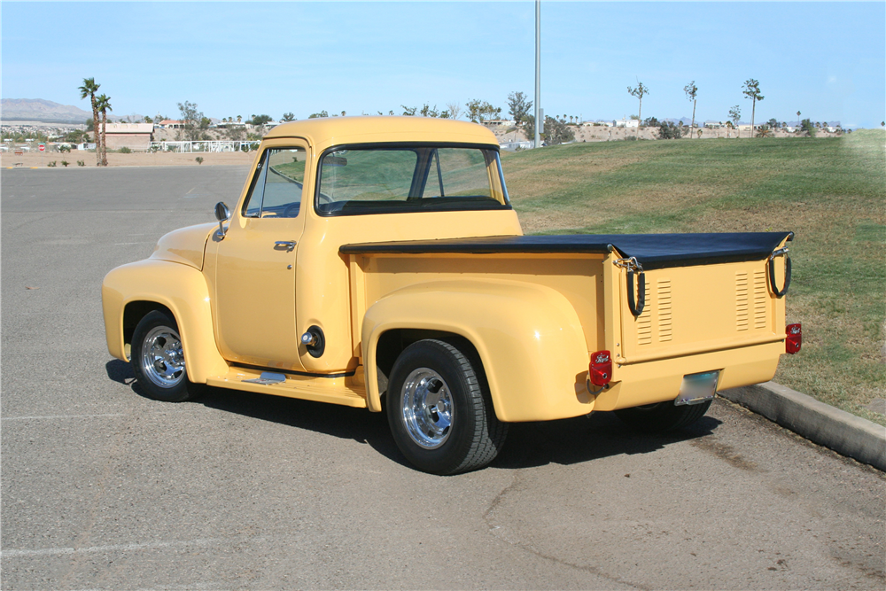 1954 FORD F-100 CUSTOM PICKUP - Rear 3/4 - 190376