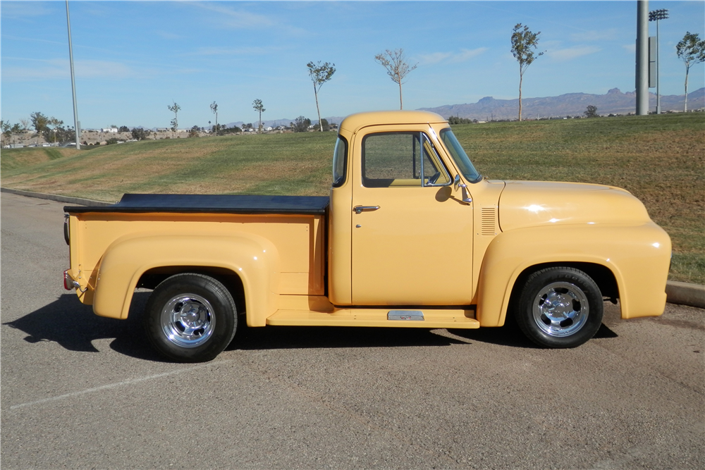 1954 FORD F-100 CUSTOM PICKUP - Side Profile - 190376