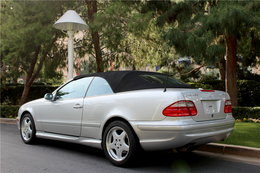 2000 MERCEDES-BENZ CLK430 CONVERTIBLE - Rear 3/4 - 190380