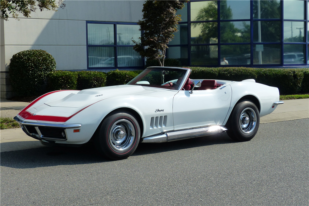 1969 CHEVROLET CORVETTE CONVERTIBLE - Front 3/4 - 190397