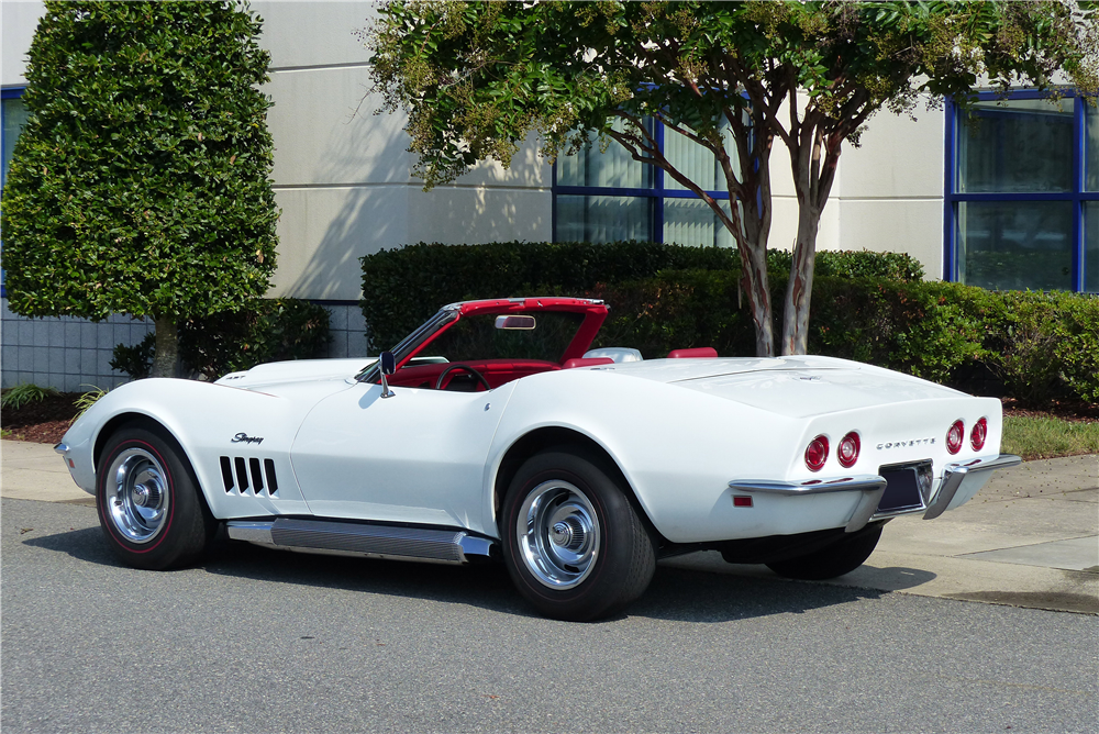 1969 CHEVROLET CORVETTE CONVERTIBLE - Rear 3/4 - 190397