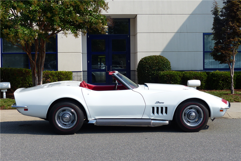 1969 CHEVROLET CORVETTE CONVERTIBLE - Side Profile - 190397