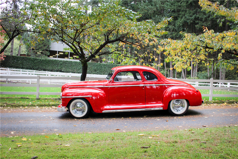 1948 PLYMOUTH SPECIAL DELUXE CUSTOM COUPE - Side Profile - 190400