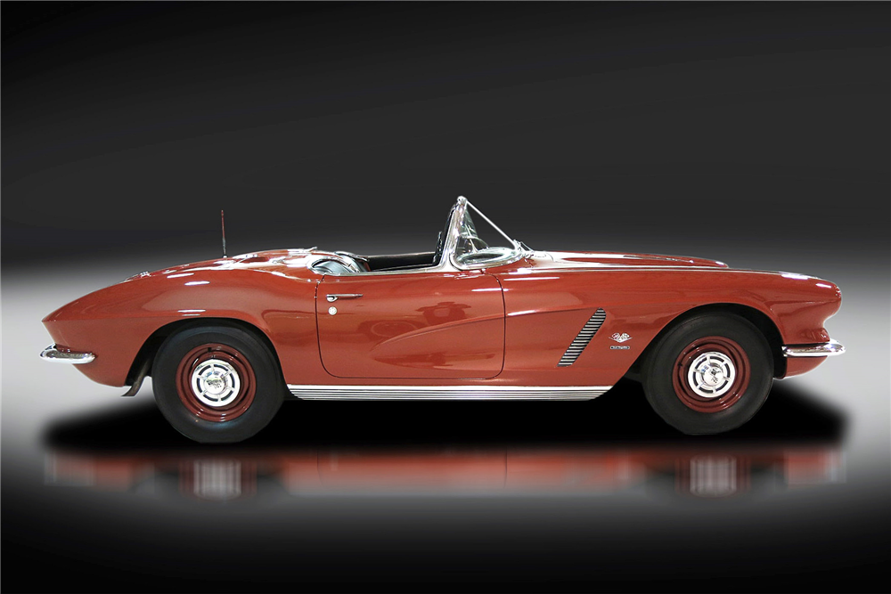 1962 CHEVROLET CORVETTE CONVERTIBLE - Side Profile - 190405