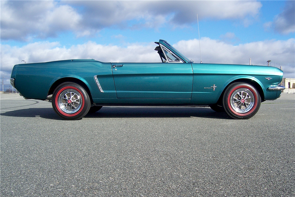 1965 FORD MUSTANG RETRACTABLE HARDTOP - Side Profile - 190406