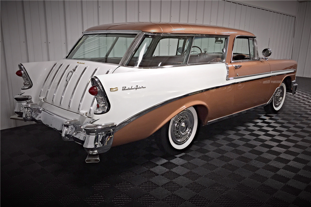 1956 CHEVROLET NOMAD WAGON - Rear 3/4 - 190407