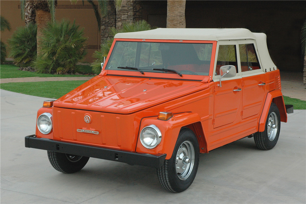 1973 VOLKSWAGEN THING CONVERTIBLE - Front 3/4 - 190426
