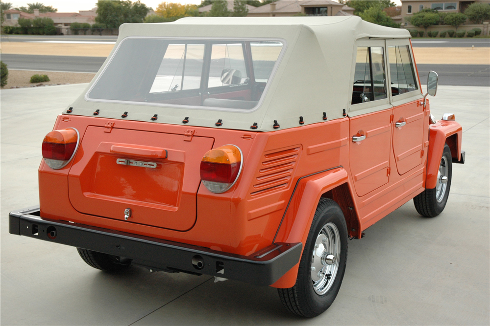 1973 VOLKSWAGEN THING CONVERTIBLE - Rear 3/4 - 190426