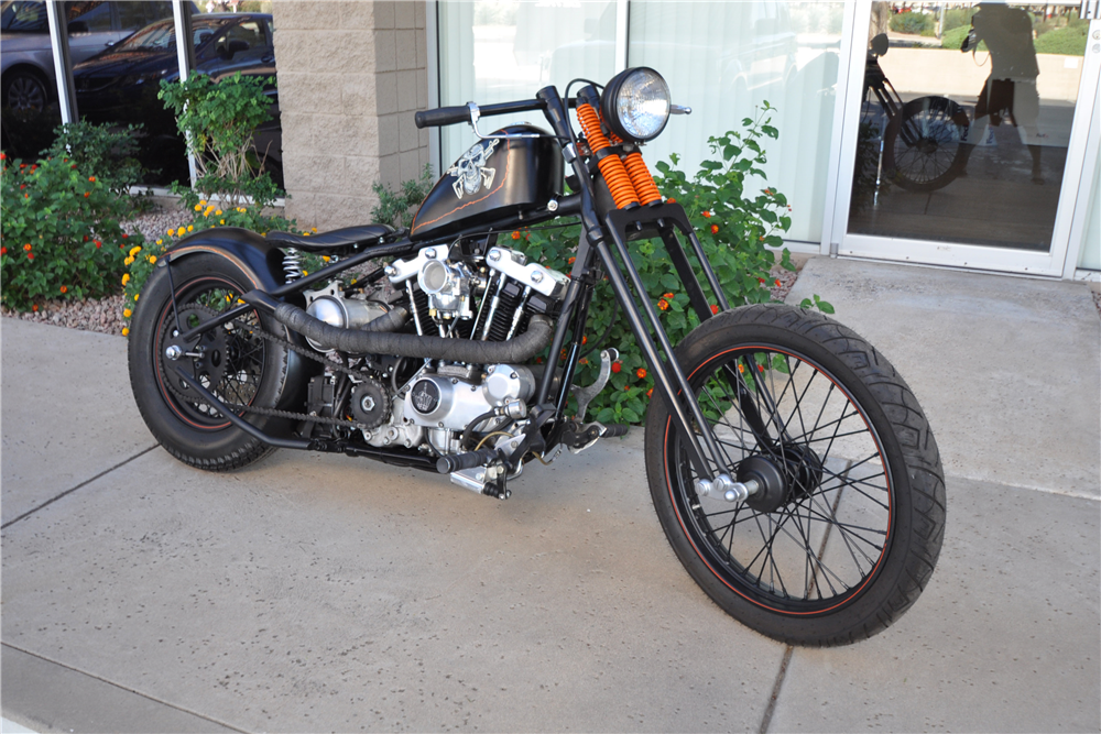1979 CUSTOM RIGID MOTORCYCLE - Front 3/4 - 190442