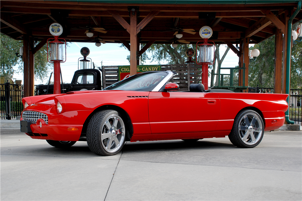 2004 FORD THUNDERBIRD CUSTOM CONVERTIBLE - Side Profile - 190457