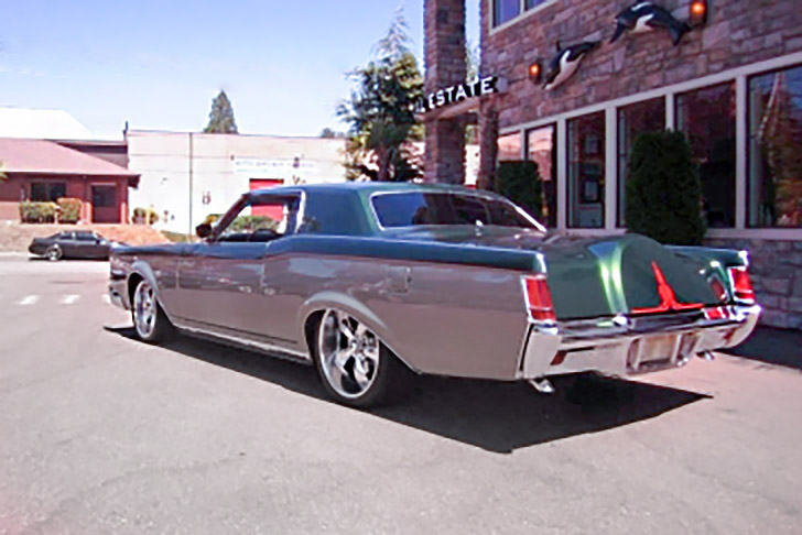 1971 LINCOLN CONTINENTAL CUSTOM HARDTOP - Rear 3/4 - 190464