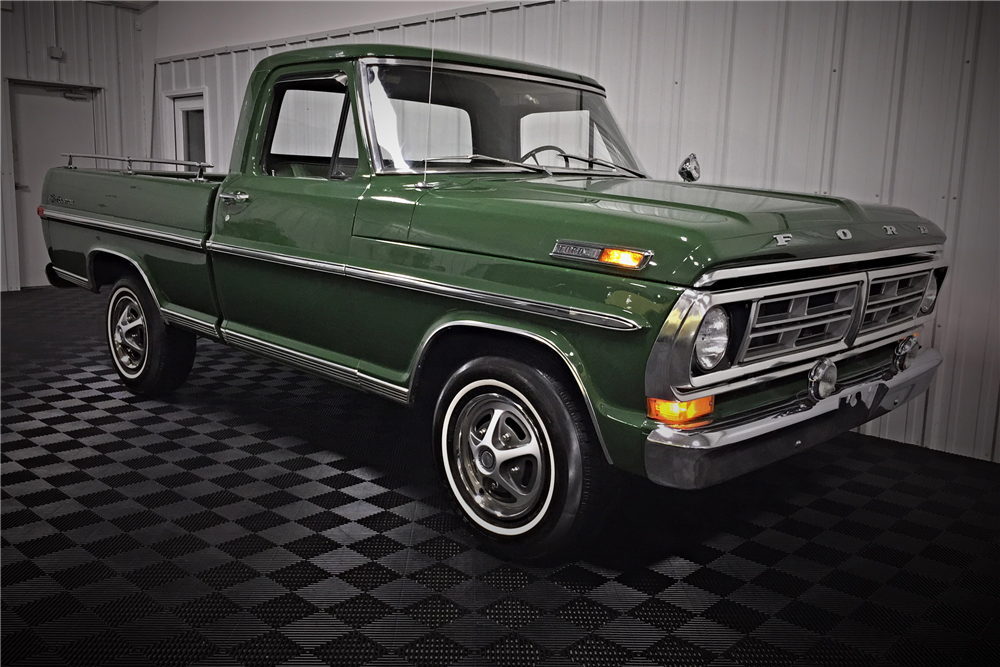 1972 FORD F-100 SPORT CUSTOM PICKUP - Front 3/4 - 190474