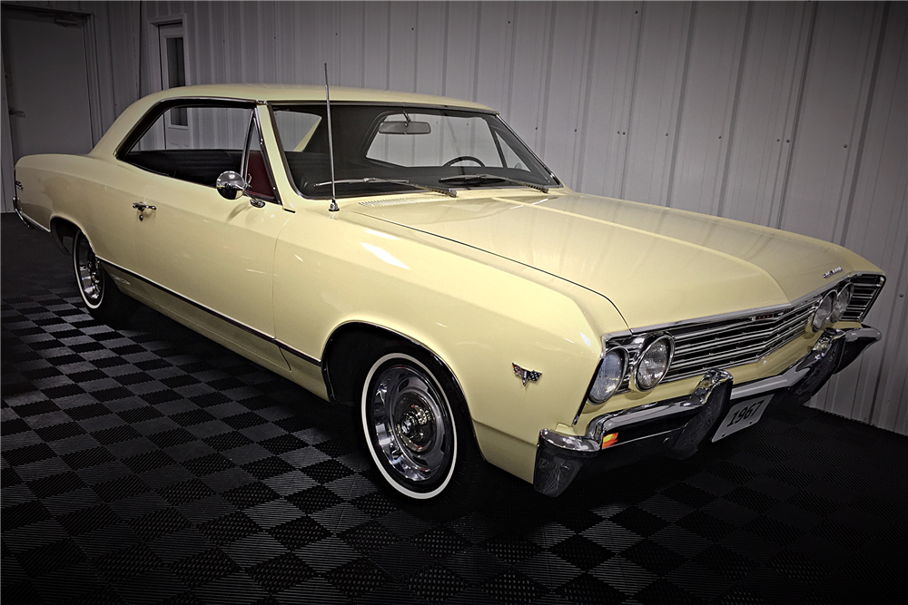 1967 CHEVROLET MALIBU SPORT COUPE - Front 3/4 - 190483