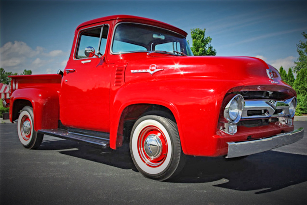 1956 FORD F-100 PICKUP - Front 3/4 - 190495