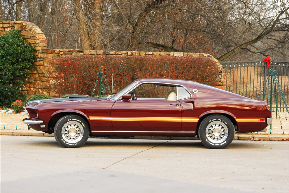 1969 FORD MUSTANG MACH 1 428 SCJ FASTBACK - Side Profile - 190509