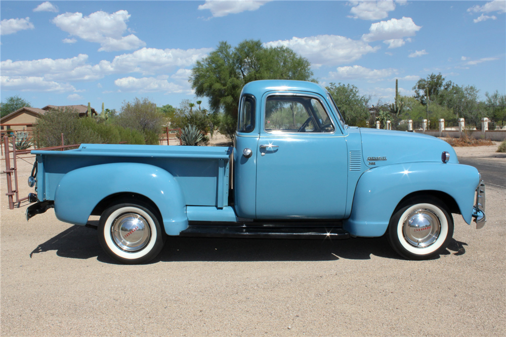 1950 CHEVROLET PICKUP - Side Profile - 190559