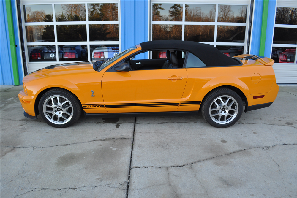 2008 FORD SHELBY GT500 CONVERTIBLE - Side Profile - 190587