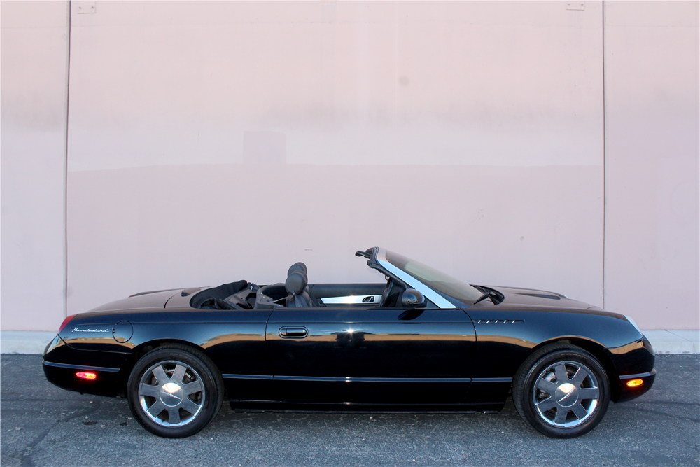 2002 FORD THUNDERBIRD CONVERTIBLE - Side Profile - 190935
