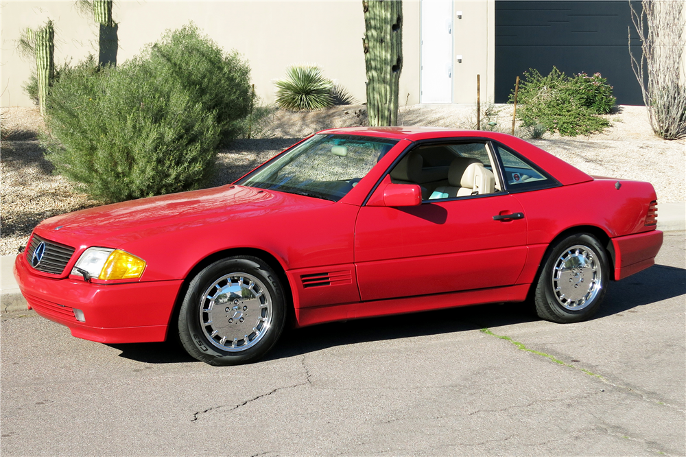 1992 MERCEDES-BENZ SL500 CONVERTIBLE - Front 3/4 - 190960