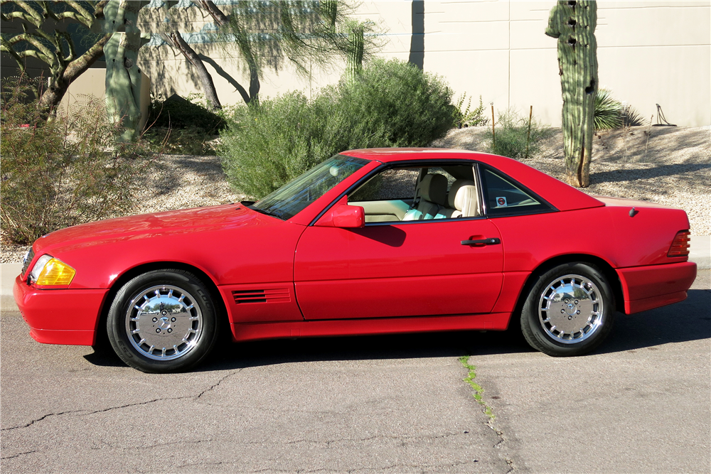 1992 MERCEDES-BENZ SL500 CONVERTIBLE - Rear 3/4 - 190960