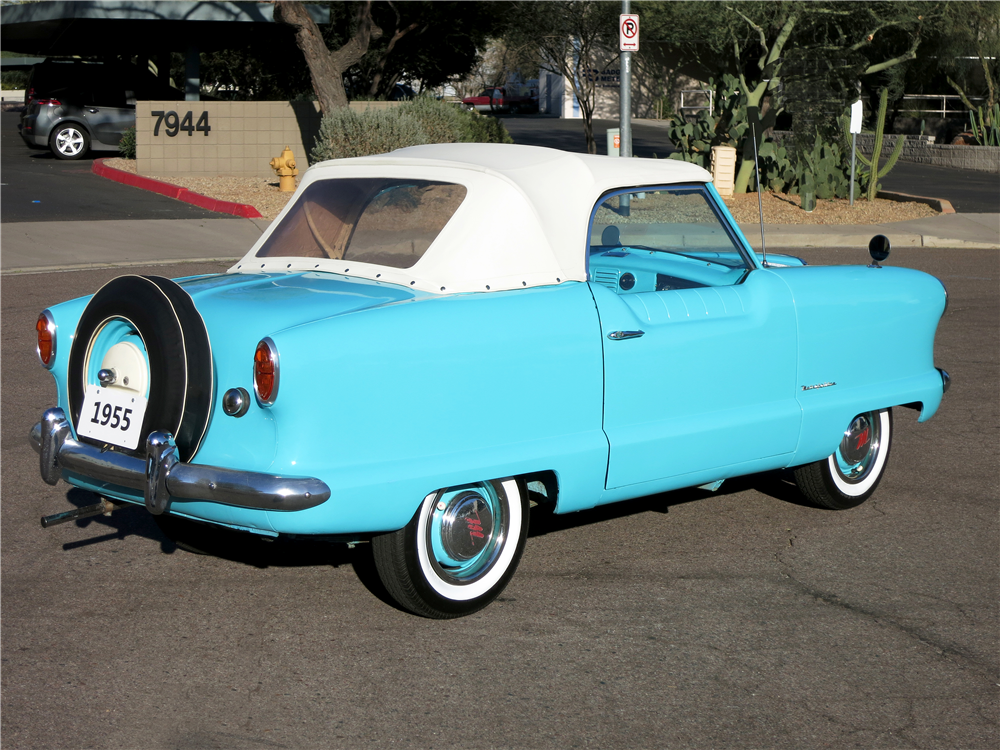 1955 NASH METROPOLITAN CONVERTIBLE - Rear 3/4 - 190964