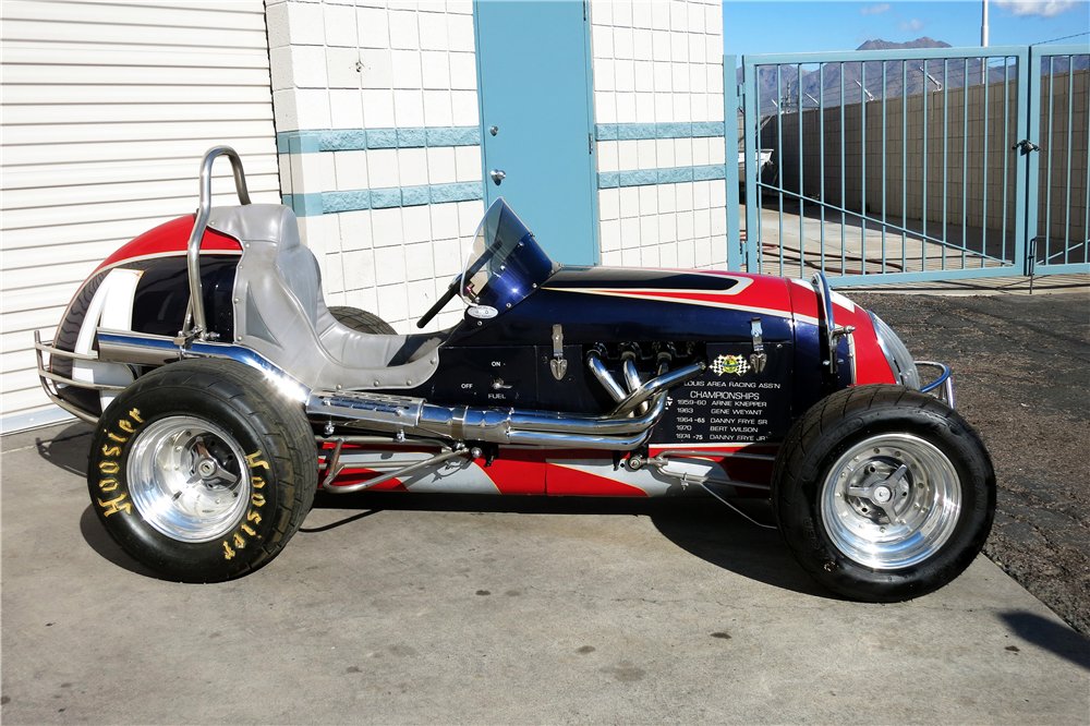 1946 KURTIS KRAFT CUSTOM MIDGET RACE CAR - Side Profile - 190966
