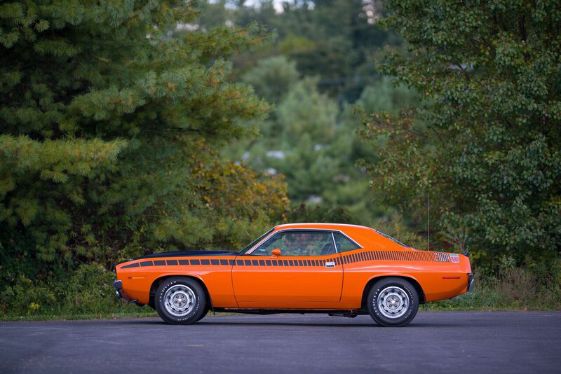 1970 PLYMOUTH 'CUDA AAR  - Side Profile - 191045