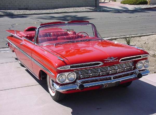 1959 CHEVROLET IMPALA CONVERTIBLE - Front 3/4 - 19114