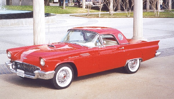 1957 FORD THUNDERBIRD CONVERTIBLE - Front 3/4 - 19118