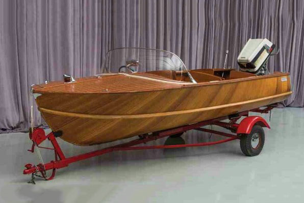 1987 HOMEMADE BOAT TRAILER  - Front 3/4 - 191199
