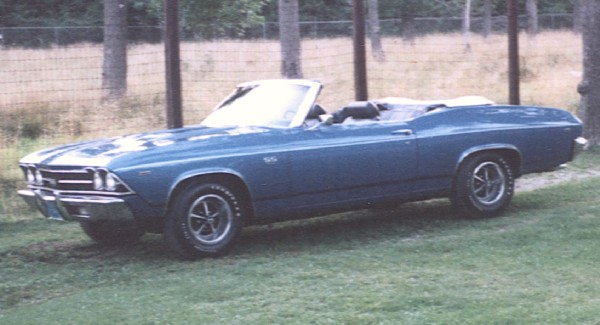 1969 CHEVROLET CHEVELLE SS CONVERTIBLE - Front 3/4 - 19122