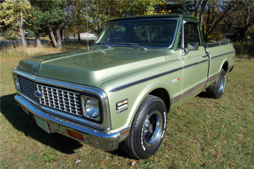 1971 CHEVROLET C-10 SHORT BED FLEETSIDE PICKUP - Front 3/4 - 191220