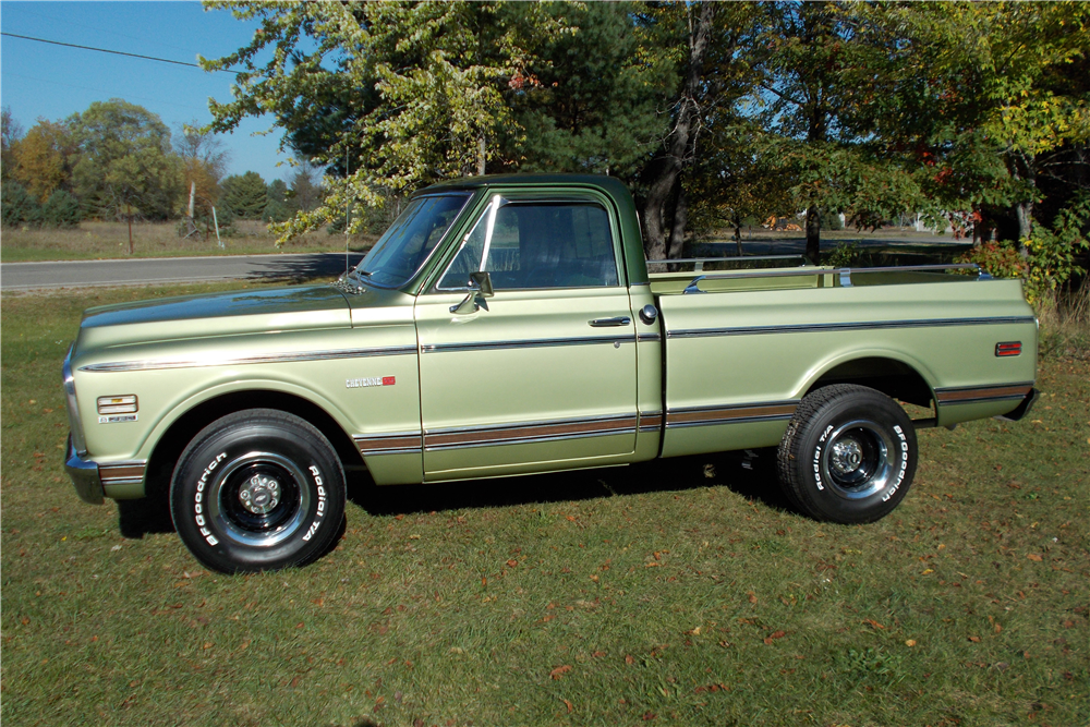 1971 CHEVROLET C-10 SHORT BED FLEETSIDE PICKUP - Side Profile - 191220