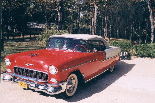 1955 CHEVROLET BEL AIR CONVERTIBLE - Front 3/4 - 19124