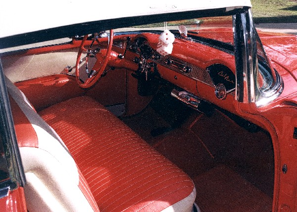1955 CHEVROLET BEL AIR CONVERTIBLE - Interior - 19124