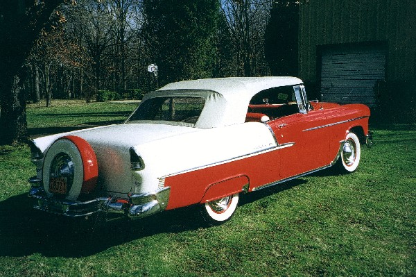 1955 CHEVROLET BEL AIR CONVERTIBLE - Rear 3/4 - 19124