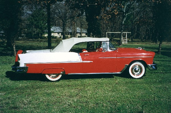 1955 CHEVROLET BEL AIR CONVERTIBLE - Side Profile - 19124