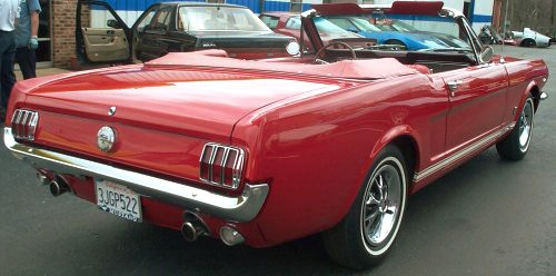 1966 FORD MUSTANG CONVERTIBLE - Rear 3/4 - 19127