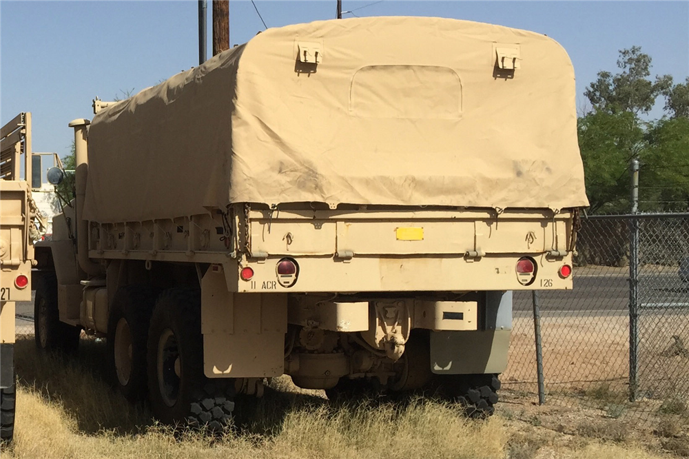 1990 BMY HASCO M923A2 TACTICAL CARGO TRUCK - Rear 3/4 - 191287