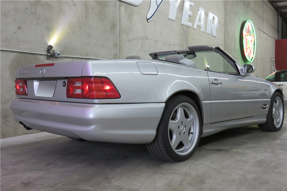 1999 MERCEDES-BENZ SL500 CONVERTIBLE - Rear 3/4 - 191290