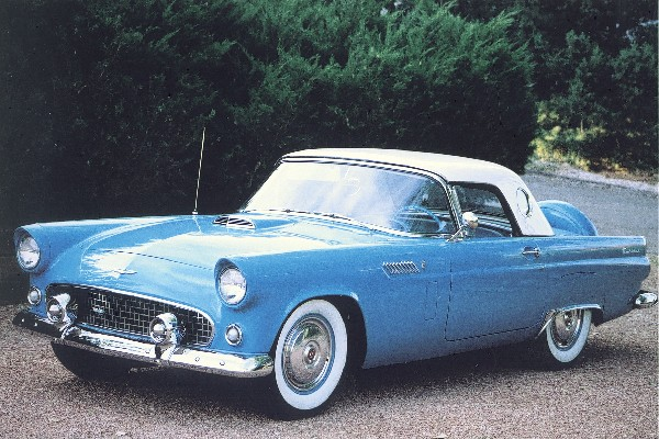 1956 FORD THUNDERBIRD CONVERTIBLE - Front 3/4 - 19136