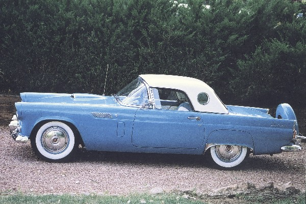 1956 FORD THUNDERBIRD CONVERTIBLE - Side Profile - 19136